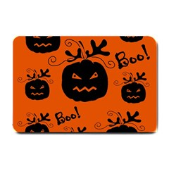 Halloween black pumpkins pattern Small Doormat