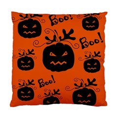 Halloween black pumpkins pattern Standard Cushion Case (Two Sides)