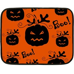 Halloween black pumpkins pattern Fleece Blanket (Mini)