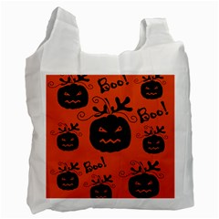 Halloween black pumpkins pattern Recycle Bag (One Side)