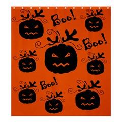 Halloween black pumpkins pattern Shower Curtain 66  x 72  (Large)