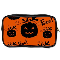 Halloween black pumpkins pattern Toiletries Bags 2-Side