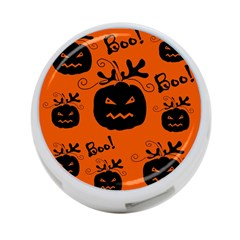 Halloween black pumpkins pattern 4-Port USB Hub (Two Sides)