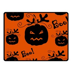 Halloween black pumpkins pattern Fleece Blanket (Small)