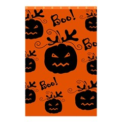 Halloween black pumpkins pattern Shower Curtain 48  x 72  (Small)