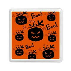 Halloween black pumpkins pattern Memory Card Reader (Square)