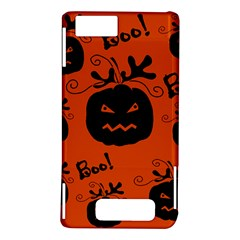 Halloween black pumpkins pattern Motorola DROID X2