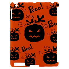 Halloween black pumpkins pattern Apple iPad 2 Hardshell Case (Compatible with Smart Cover)