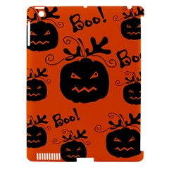 Halloween black pumpkins pattern Apple iPad 3/4 Hardshell Case (Compatible with Smart Cover)