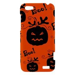 Halloween black pumpkins pattern HTC One V Hardshell Case