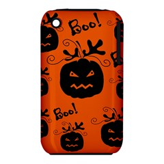 Halloween black pumpkins pattern Apple iPhone 3G/3GS Hardshell Case (PC+Silicone)
