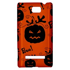 Halloween black pumpkins pattern HTC 8S Hardshell Case