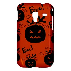 Halloween black pumpkins pattern Samsung Galaxy Ace Plus S7500 Hardshell Case