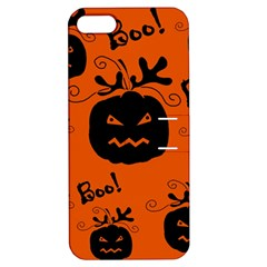 Halloween black pumpkins pattern Apple iPhone 5 Hardshell Case with Stand