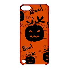 Halloween black pumpkins pattern Apple iPod Touch 5 Hardshell Case with Stand