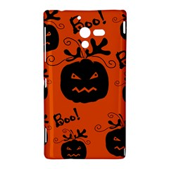 Halloween black pumpkins pattern Sony Xperia ZL (L35H)