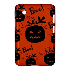 Halloween black pumpkins pattern Samsung Galaxy Tab 2 (7 ) P3100 Hardshell Case