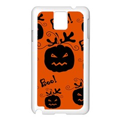 Halloween black pumpkins pattern Samsung Galaxy Note 3 N9005 Case (White)