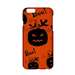 Halloween black pumpkins pattern Apple iPhone 6/6S Hardshell Case