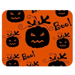 Halloween black pumpkins pattern Double Sided Flano Blanket (Medium)