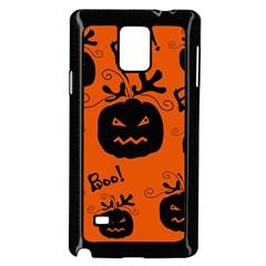 Halloween black pumpkins pattern Samsung Galaxy Note 4 Case (Black)