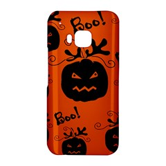 Halloween black pumpkins pattern HTC One M9 Hardshell Case