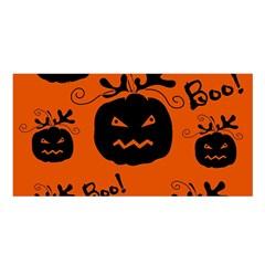 Halloween black pumpkins pattern Satin Shawl