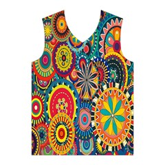 Tumblr Static Colorful Men s Basketball Tank Top