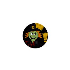 Halloween witch 1  Mini Buttons