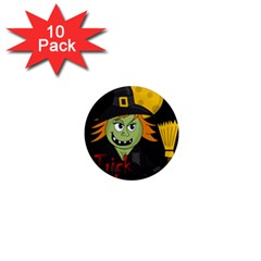 Halloween witch 1  Mini Magnet (10 pack)