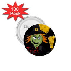 Halloween witch 1.75  Buttons (100 pack)