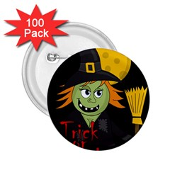 Halloween witch 2.25  Buttons (100 pack)