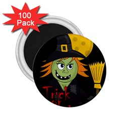 Halloween witch 2.25  Magnets (100 pack)
