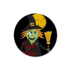 Halloween witch Magnet 3  (Round)