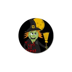 Halloween witch Golf Ball Marker