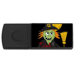 Halloween witch USB Flash Drive Rectangular (1 GB)