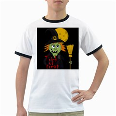 Halloween witch Ringer T-Shirts