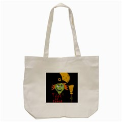 Halloween witch Tote Bag (Cream)