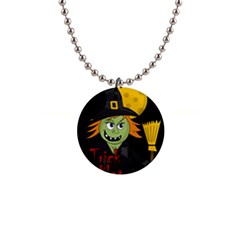 Halloween witch Button Necklaces