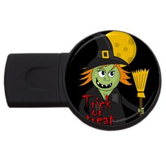 Halloween witch USB Flash Drive Round (4 GB)