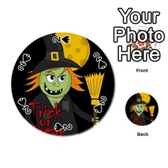 Halloween witch Playing Cards 54 (Round)
