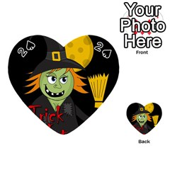 Halloween witch Playing Cards 54 (Heart)
