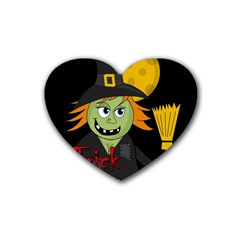 Halloween witch Heart Coaster (4 pack)
