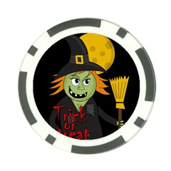 Halloween witch Poker Chip Card Guards