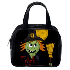 Halloween witch Classic Handbags (One Side)