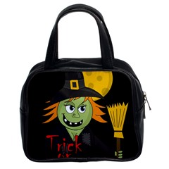 Halloween witch Classic Handbags (2 Sides)