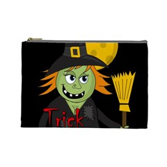 Halloween witch Cosmetic Bag (Large)
