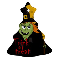 Halloween witch Christmas Tree Ornament (2 Sides)