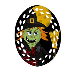 Halloween witch Ornament (Oval Filigree)