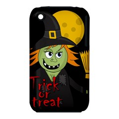Halloween witch Apple iPhone 3G/3GS Hardshell Case (PC+Silicone)